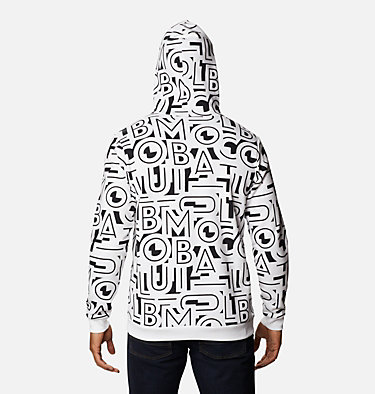 Men's Columbia Logo™ Printed Hoodie - Tall M Columbia Logo™ Printed Hoodie | 010 | LT, Black, White Typo, back