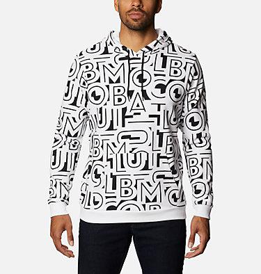 Men's Columbia Logo™ Printed Hoodie - Tall M Columbia Logo™ Printed Hoodie | 010 | LT, Black, White Typo, front