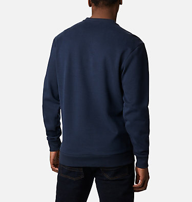 Men's Mountain View™ Logo Crew Omni-Heat™ Sweatshirt Mountain View™ Logo Crew | 511 | XXL, Collegiate Navy, White Chenille, back