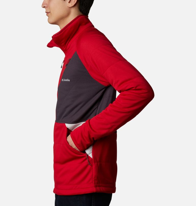 M Parkdale Point™ Full Zip | 613 | XL Men's Parkdale Point™ Full Zip Jacket, Mountain Red, a1