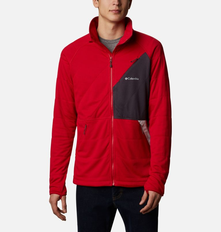 M Parkdale Point™ Full Zip | 613 | XL Men's Parkdale Point™ Full Zip Jacket, Mountain Red, front