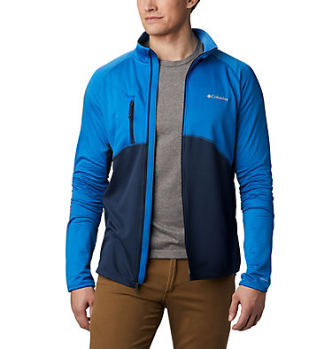 Strato intermedio con cerniera integrale Mt. Powder™ da uomo Mt. Powder™ Full Zip | 613 | XXL, Bright Indigo, Collegiate Navy, front