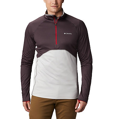Veste intermédiaire à demi-zip Mt. Powder™ homme Mt. Powder™ Half Zip | 464 | M, Dark Purple, Nimbus Grey, front