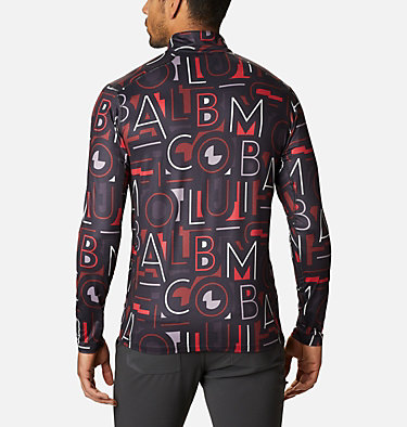Men's Winter Power™ Half Zip Shirt Winter Power™ Half Zip | 011 | L, Black, Multicolor Typo, back