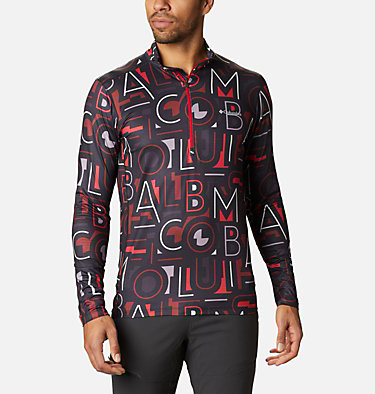 Men's Winter Power™ Half Zip Shirt Winter Power™ Half Zip | 011 | L, Black, Multicolor Typo, front