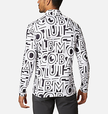 Men's Winter Power™ Half Zip Shirt Winter Power™ Half Zip | 011 | L, White Typo, back