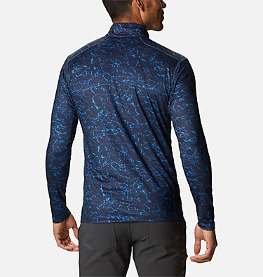 Men's Winter Power™ Half Zip Shirt Winter Power™ Half Zip | 011 | L, Collegiate Navy Crackle, back