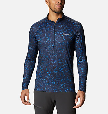 Men's Winter Power™ Half Zip Shirt Winter Power™ Half Zip | 011 | L, Collegiate Navy Crackle, front