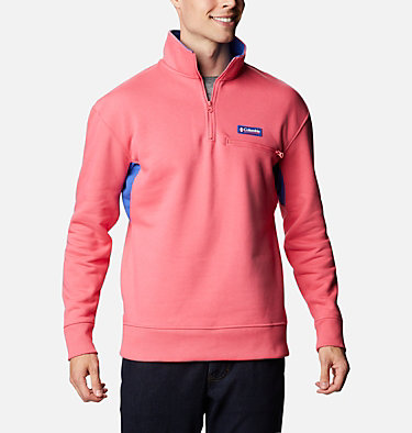 Bugasweat™ Quarter Zip Bugasweat™ Quarter Zip | 100 | L, Bright Geranium, Lapis Blue, front