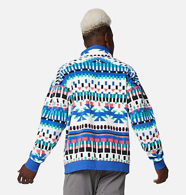 Men's Powder Keg™ Fleece Pullover Powder Keg™ Fleece | 100 | L, White Print, Lapis Blue, back