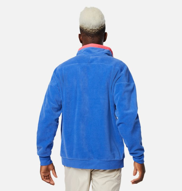 Powder Keg™ Fleece | 410 | XL Manteau en laine polaire Powder Keg™ pour homme, Lapis Blue, Bright Geranium, back