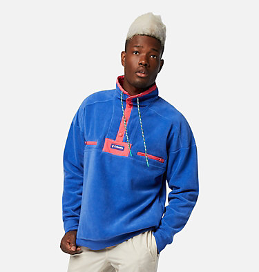 Men's Powder Keg™ Fleece Pullover Powder Keg™ Fleece | 100 | L, Lapis Blue, Bright Geranium, front