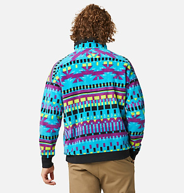 Men's Powder Keg™ Fleece Pullover Powder Keg™ Fleece | 100 | L, Fjord Blue Print, Black, back