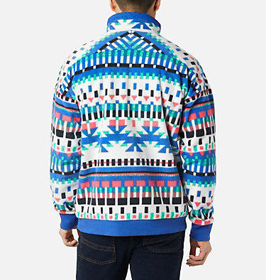 Polar Powder Keg™ Unisex Powder Keg™ Fleece | 100 | L, White Print, Lapis Blue, back