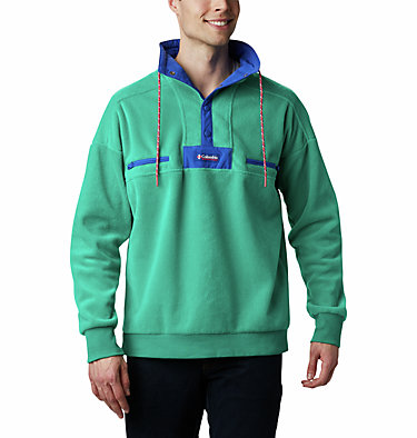 Pile Powder Keg™ Unisex Powder Keg™ Fleece | 100 | L, Emerald Green, Lapis Blue, front