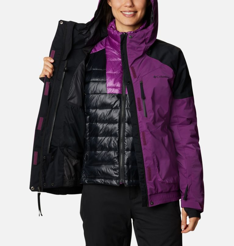 Tracked Out™ Interchange Jacket | 575 | XS Women's Tracked Out™ Interchange Jacket, Plum, Black, Black, a3