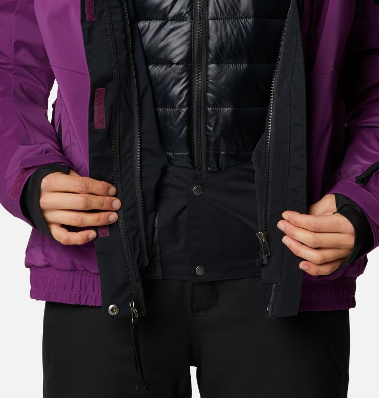 Tracked Out™ Interchange Jacket | 575 | XS Women's Tracked Out™ Interchange Jacket, Plum, Black, Black, a9