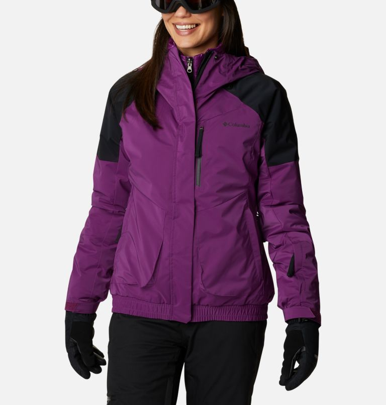 Tracked Out™ Interchange Jacket | 575 | XS Women's Tracked Out™ Interchange Jacket, Plum, Black, Black, front