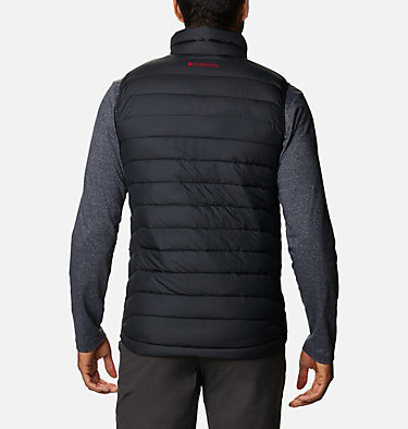 Men's Collegiate Powder Lite™ Vest - Wisconsin CLG Powder Lite™ Vest | 021 | L, WIS - Black, back