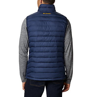 Men's Collegiate Powder Lite™ Vest - Notre Dame CLG Powder Lite™ Vest | 466 | XL, ND - Collegiate Navy, back