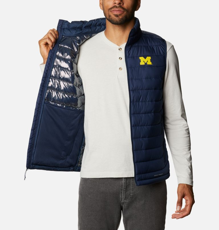 Men's Collegiate Powder Lite™ Vest - Michigan Men's Collegiate Powder Lite™ Vest - Michigan, a3