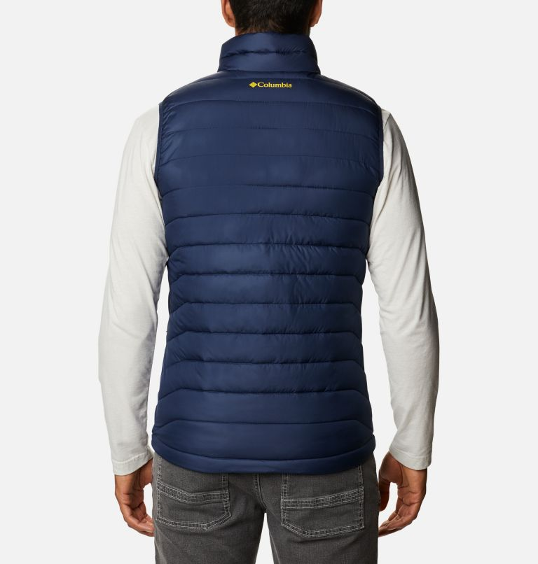 Men's Collegiate Powder Lite™ Vest - Michigan Men's Collegiate Powder Lite™ Vest - Michigan, back