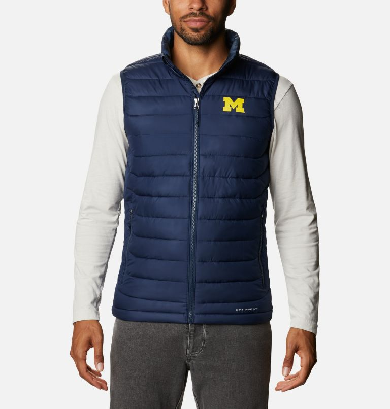 Men's Collegiate Powder Lite™ Vest - Michigan Men's Collegiate Powder Lite™ Vest - Michigan, front