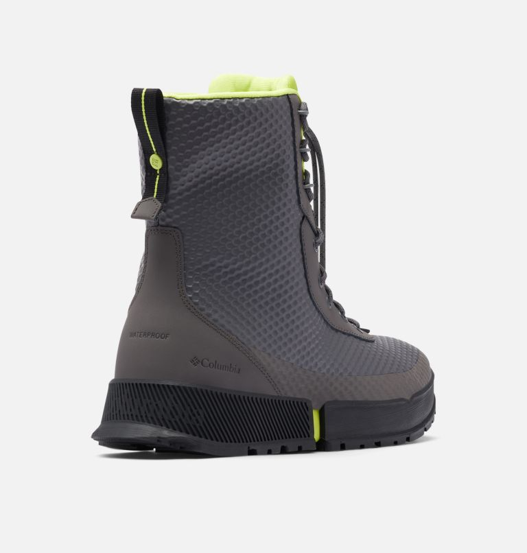 HYPER-BOREAL™ OMNI-HEAT™ TALL | 089 | 11.5 Men's Hyper-Boreal™ Omni-Heat™ Tall Boot, Dark Grey, Acid Green, 3/4 back