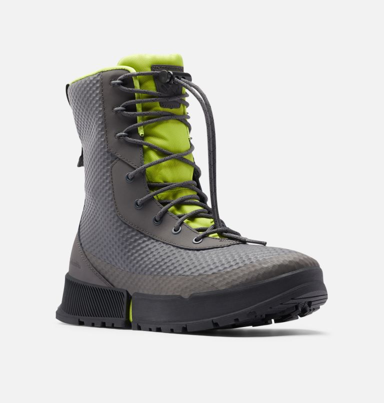 HYPER-BOREAL™ OMNI-HEAT™ TALL | 089 | 11.5 Men's Hyper-Boreal™ Omni-Heat™ Tall Boot, Dark Grey, Acid Green, 3/4 front