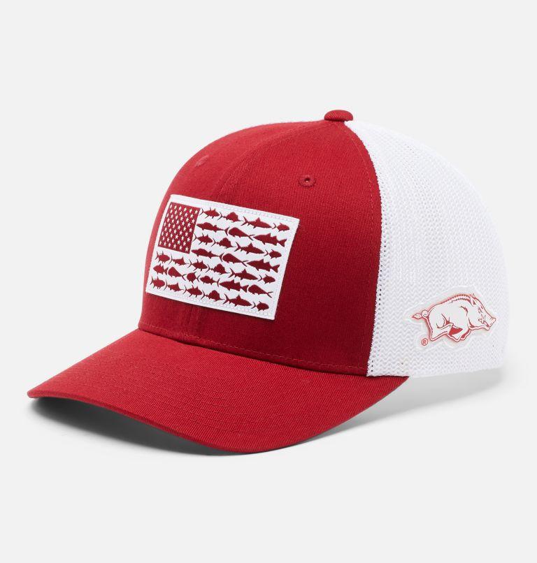 PFG Mesh™ Fish Flag Ball Cap - Arkansas PFG Mesh™ Fish Flag Ball Cap - Arkansas, front