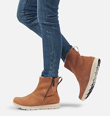Botte à fermeture à glissière Sorel™ pour femme SOREL™ EXPLORER ZIP | 224 | 10, Camel Brown, video