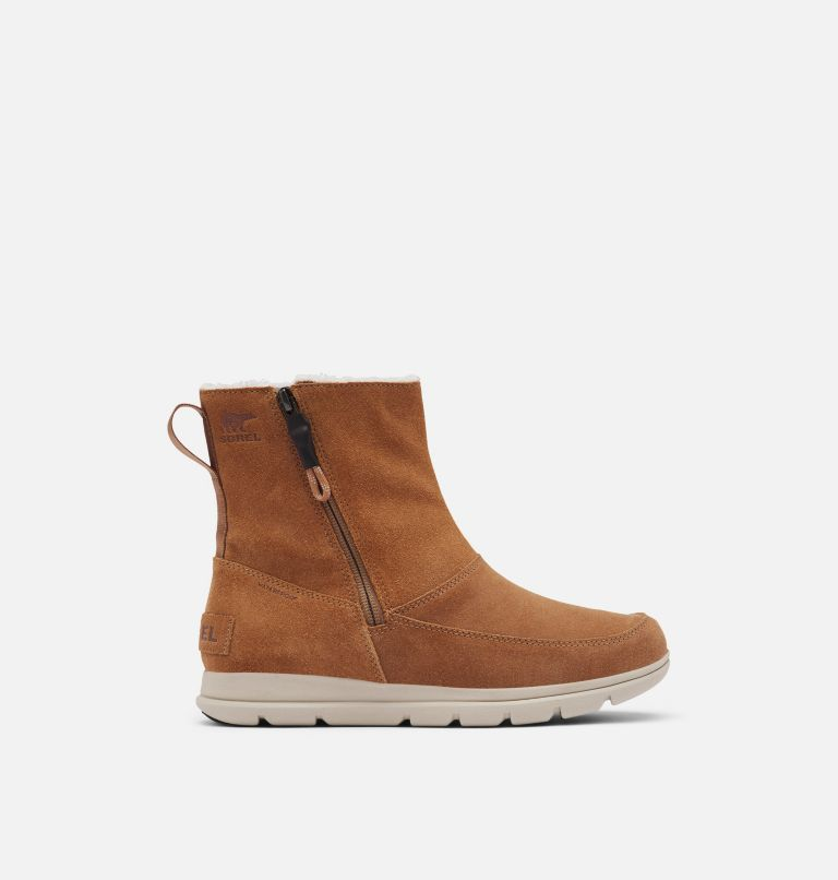 SOREL™ EXPLORER ZIP | 224 | 10.5 Women's Sorel™ Explorer Zip Boot, Camel Brown, front