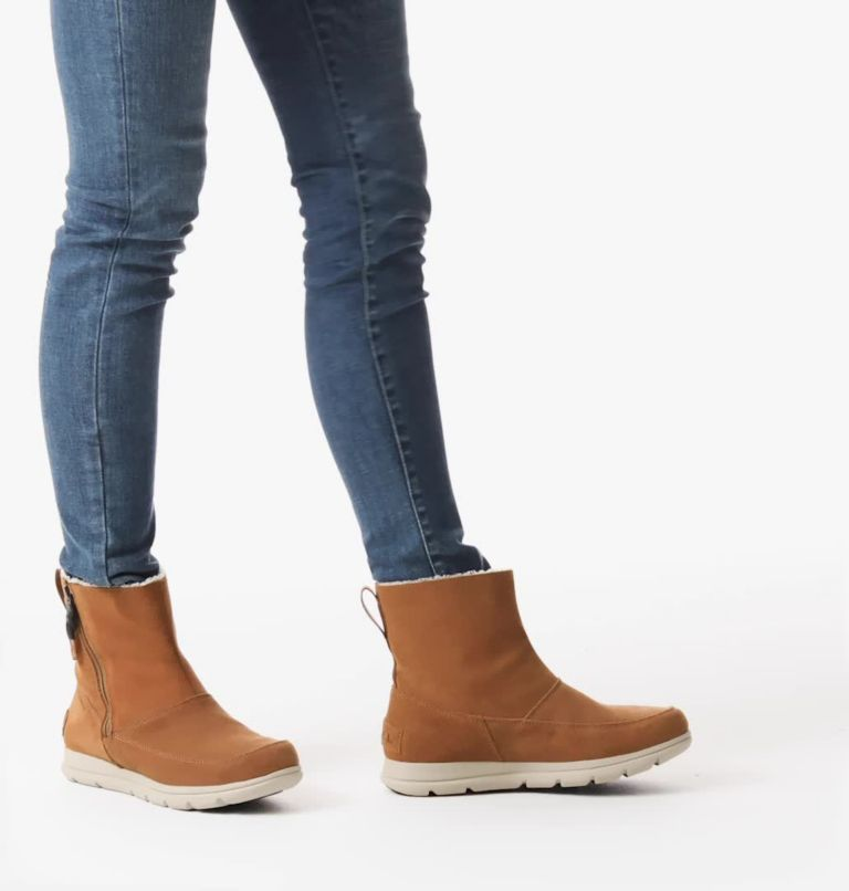 SOREL™ EXPLORER ZIP | 224 | 10.5 Women's Sorel™ Explorer Zip Boot, Camel Brown, video