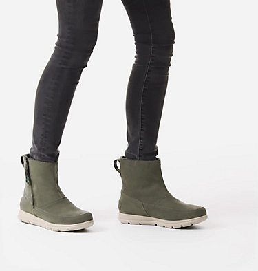 Women's Sorel™ Explorer Zip Boot SOREL™ EXPLORER ZIP | 010 | 10, Alpine Tundra, video