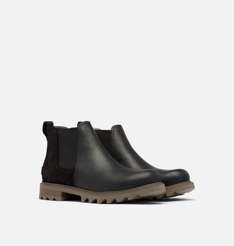 MAD BRICK™ CHELSEA WP | 010 | 9.5 Men's Mad Brick™ Chelsea Boot, Black, 3/4 front