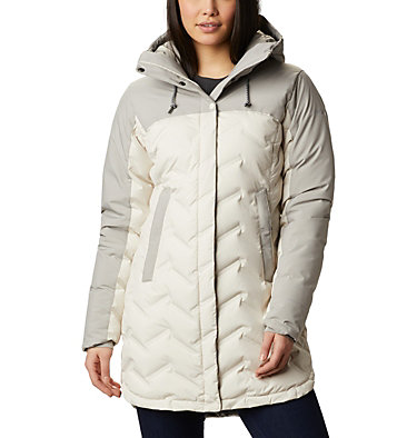 Manteau long en duvet Mountain Croo™ pour femme Mountain Croo™ Long Down Jacket | 010 | M, Chalk, Flint Grey, front