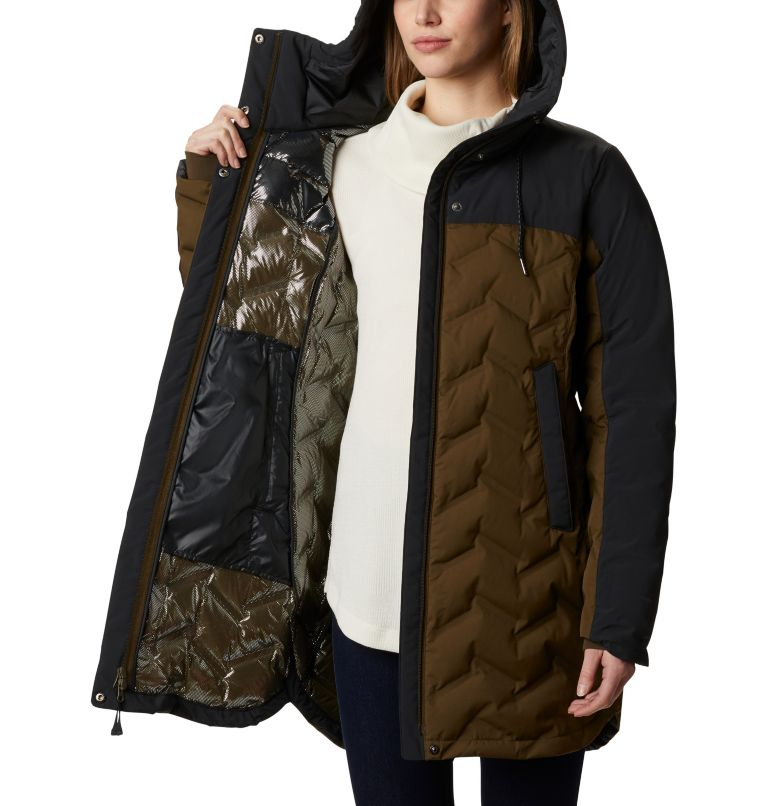Mountain Croo™ Long Down Jacket | 319 | S Doudoune longue Mountain Croo femme, Olive Green, Black, a3