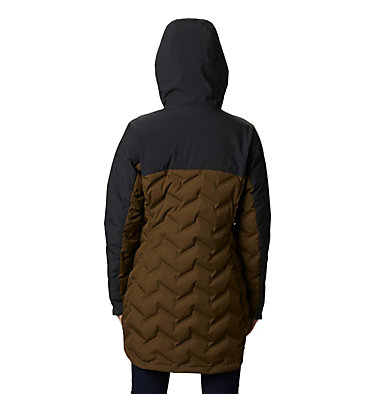 Doudoune longue Mountain Croo femme Mountain Croo™ Long Down Jacket | 010 | M, Olive Green, Black, back