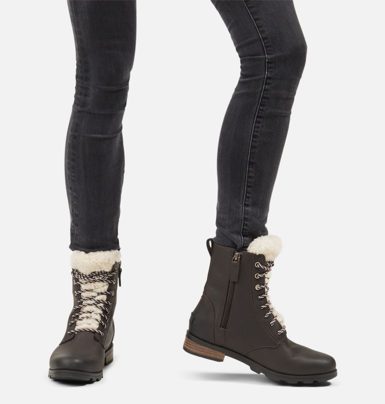 EMELIE™ SHORT LACE COZY | 205 | 9 Women's Emelie™ Short Lace Cozy Boot, Blackened Brown, a9