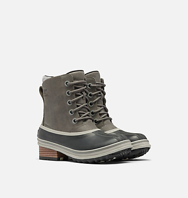 Womens Slimpack™ III Lace Duck Boot SLIMPACK™ III LACE | 010 | 10.5, Quarry, 3/4 front