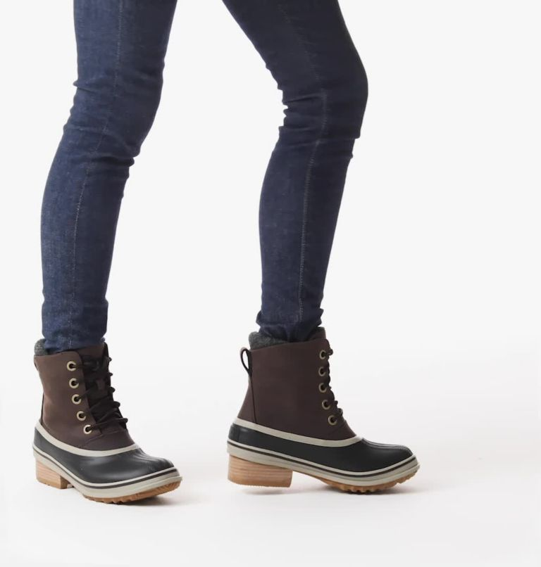 SLIMPACK™ III LACE | 205 | 9 Womens Slimpack™ III Lace Duck Boot, Blackened Brown, video
