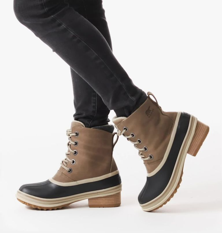 SLIMPACK™ III LACE | 297 | 10.5 Womens Slimpack™ III Lace Duck Boot, Khaki II, video