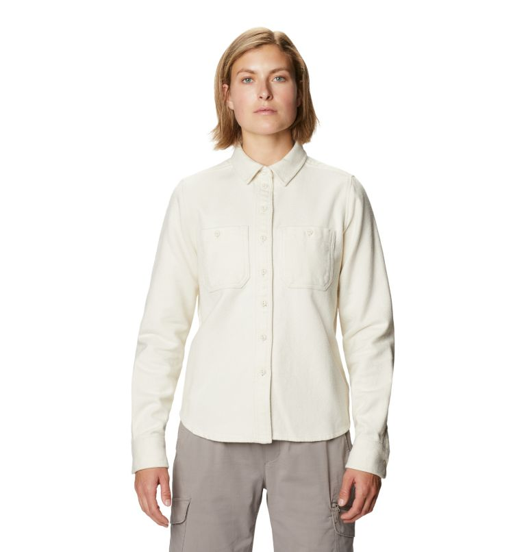 Plusher™ Long Sleeve Shirt | 022 | S Chemise à manches longues Plusher™ Femme, Stone, front