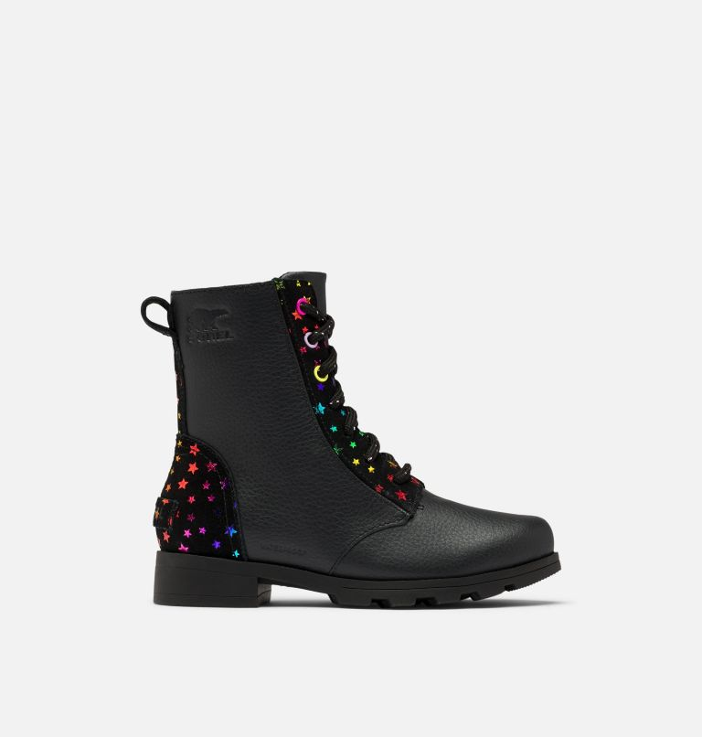 YOUTH EMELIE™ SHORT LACE   010   3 Youth Emelie™ Short Lace Boot, Black, front