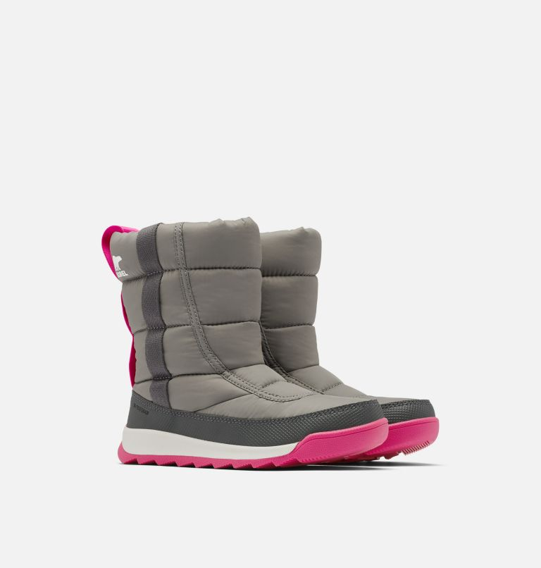 YOUTH WHITNEY™ II PUFFY MID | 052 | 7 Youth Whitney™ II Puffy Mid Boot, Quarry, 3/4 front