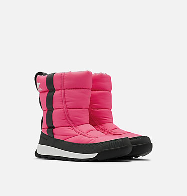 Youth Whitney™ II Puffy Mid Boot YOUTH WHITNEY™ II PUFFY MID | 052 | 2, Tropic Pink, 3/4 front