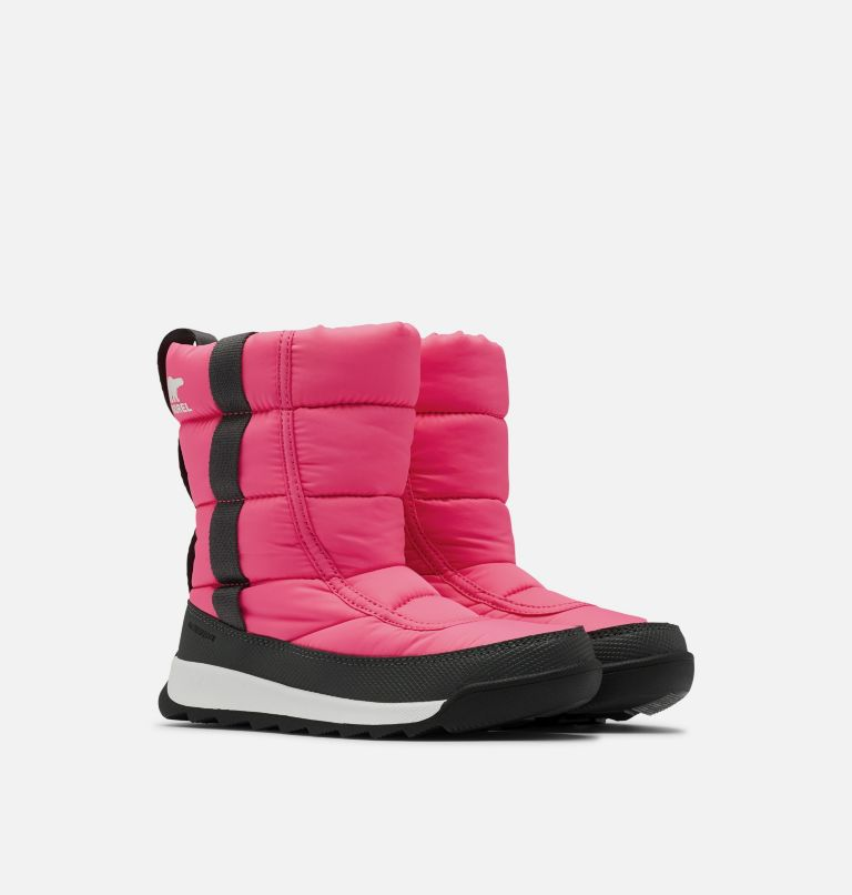 CHILDRENS WHITNEY™ II PUFFY MID | 652 | 10 Botte mi-mollet au confort duveté Whitney™ II pour enfants, Tropic Pink, 3/4 front