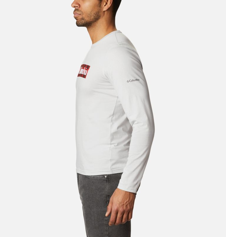 Lookout Point™ LS Graphic Tee | 043 | XL Men's Lookout Point™ Long Sleeve Graphic T-Shirt, Nimbus Grey CSC Buffalo Plaid, a1