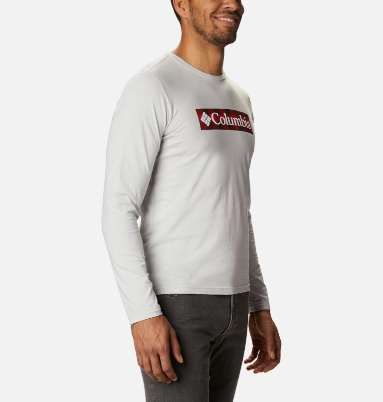 Lookout Point™ LS Graphic Tee | 043 | XL Men's Lookout Point™ Long Sleeve Graphic T-Shirt, Nimbus Grey CSC Buffalo Plaid, a3