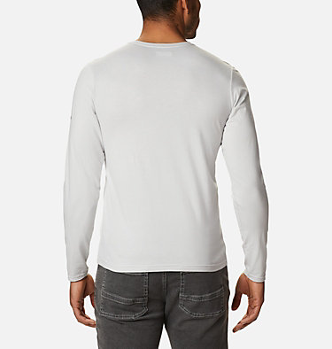 Men's Lookout Point™ Long Sleeve Graphic T-Shirt Lookout Point™ LS Graphic Tee | 043 | XXL, Nimbus Grey CSC Buffalo Plaid, back